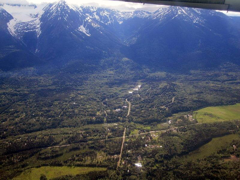 Aerial of Smithers---BC-and-the-Hudson-Bay-Mountain