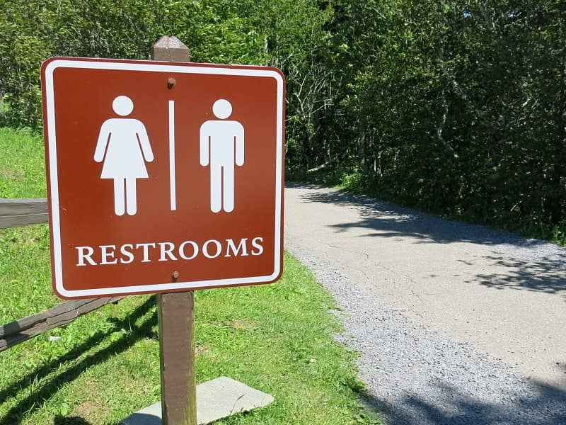 Male Female National Park Public Restroom Bathroom Marker Sign Post-cm