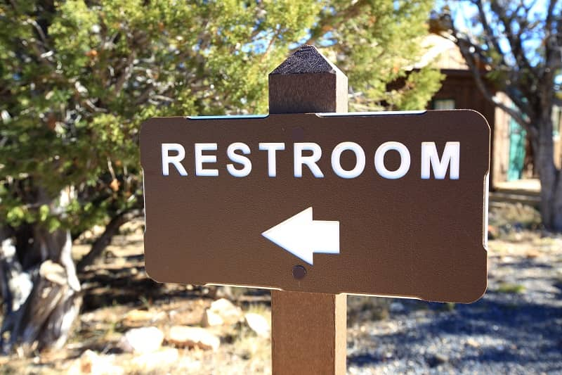 Restroom Sign in Bryce Canyon-cm