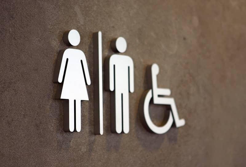 modern toilet sign-cm